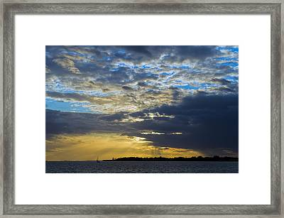 Running Out At Sunset Framed Print by Gary Eason