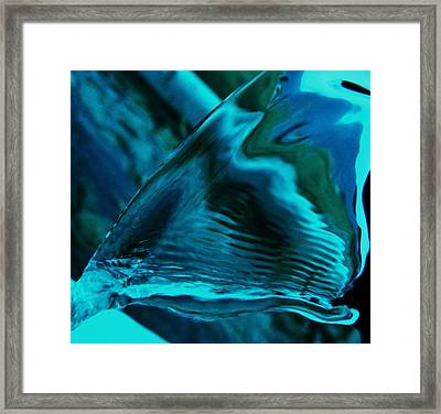 Running Rain Reflections Framed Print by Barbara St Jean