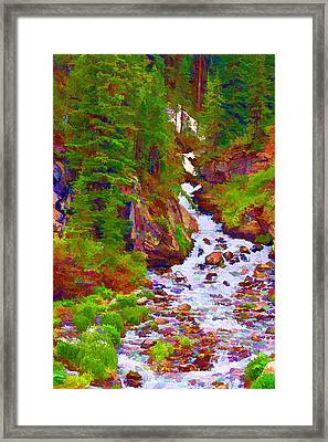 Runoff Framed Print