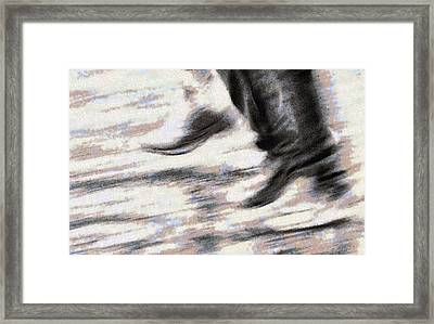 Runs Framed Print by Odon Czintos