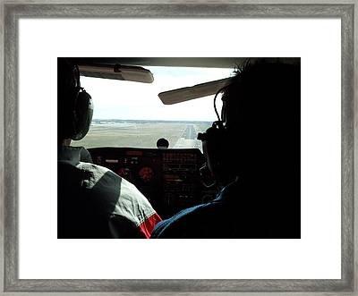 Runway 10 Dallas Area Framed Print by Thomas Woolworth