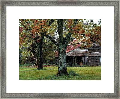 Rural Barn Fall South Carolina Landscape Framed Print