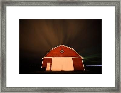 Rural Barn Night Photograhy Framed Print by Mark Duffy