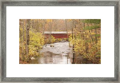 Rural Bridge Framed Print by Tristan Bosworth