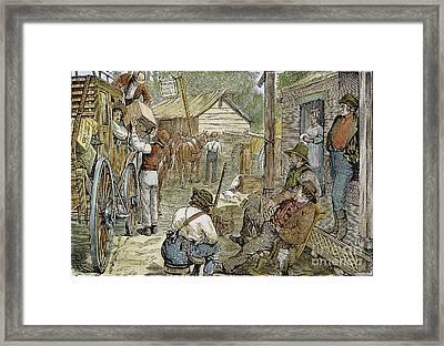 Rural Coach Stop, 1842 Framed Print by Granger