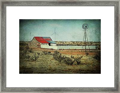 Rural Cow Pasture Framed Print by Melany Sarafis