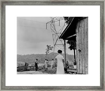 Rural Electrification In The Tennessee Framed Print by Everett