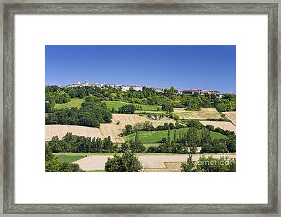 Rural French Town And Landscape Framed Print by Jon Boyes