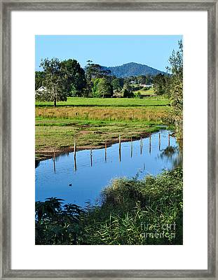 Rural Landscape After Rain Framed Print by Kaye Menner