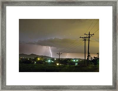 Rural Lightning Striking Framed Print by James BO  Insogna
