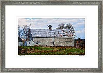 Rural Maine Farm Framed Print by Richard Bean