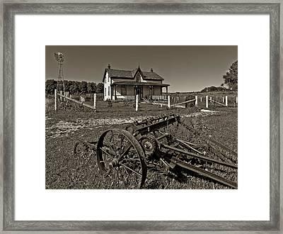 Rural Ontario Sepia Framed Print by Steve Harrington