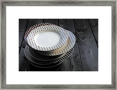 Rural Plates Framed Print by Joana Kruse
