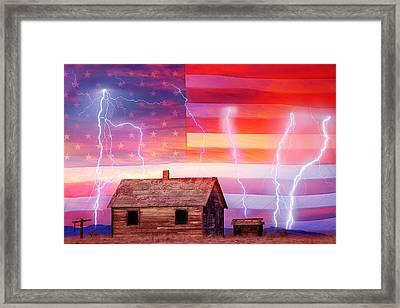 Rural Rustic America Storm Framed Print by James BO  Insogna