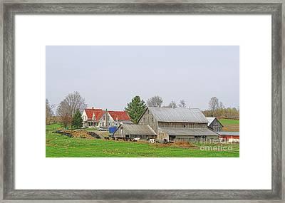 Rural Vermont Farm Scene Framed Print by Deborah Benoit