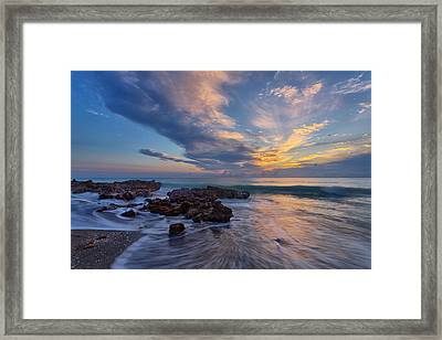 Rush Framed Print by Claudia Domenig