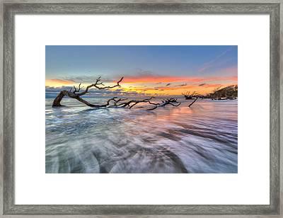 Rush Framed Print by Debra and Dave Vanderlaan