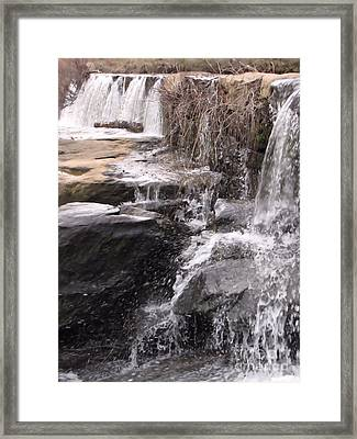 Rushing And Flowing Framed Print by Michelle H