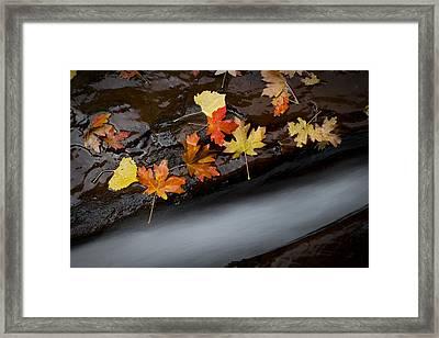 Rushing Autumn Framed Print by Jim Speth