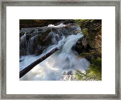 Rushing Falls Framed Print by Sarah Lamoureux