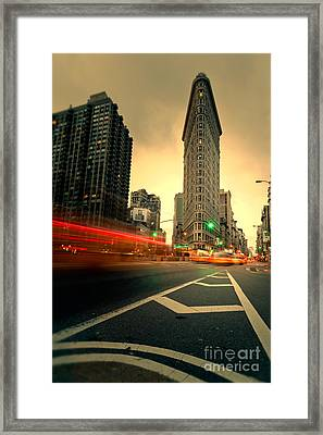 Rushing Into Another Day Framed Print