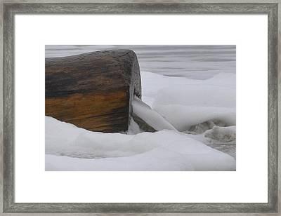 Rushing Log Framed Print