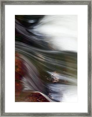 Rushing Water II Framed Print
