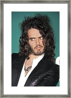 Russell Brand At A Public Appearance Framed Print by Everett