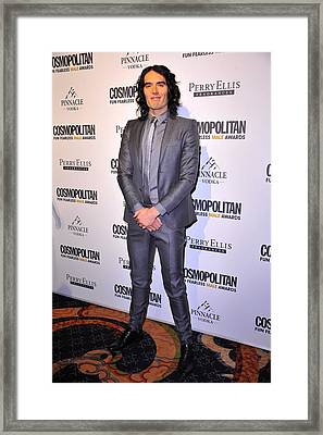 Russell Brand At Arrivals Framed Print by Everett
