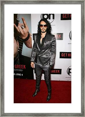 Russell Brand At Arrivals For Get Him Framed Print by Everett