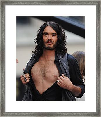 Russell Brand On Stage For Nbc Today Framed Print by Everett