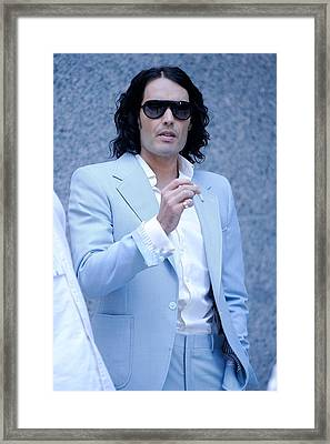 Russell Brand, Walks To The Arthur Framed Print