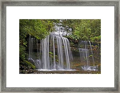 Russell Falls Framed Print by Raoul Madden