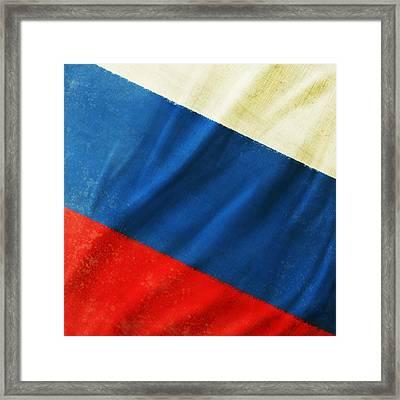 Russia Flag Framed Print by Setsiri Silapasuwanchai