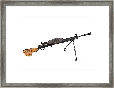 Russian 7.62mm Degtyarev Dp Machine Gun Framed Print by Andrew Chittock