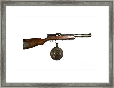 Russian 7.62mm Ppd Submachine Gun Framed Print by Andrew Chittock