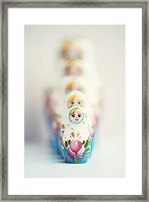 Russian Dolls Framed Print by Images by Christina Kilgour