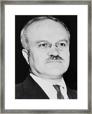 Russian Foreign Minister, Vyacheslav Framed Print by Everett