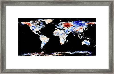 Russian Heatwave, Summer 2010 Framed Print by Nasa