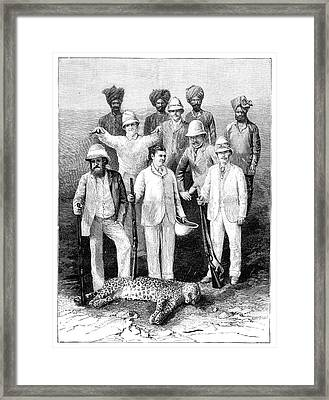Russian Imperial Hunting Party, 1890 Framed Print by