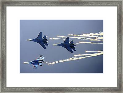 Russian Knights Aerobatic Team Framed Print