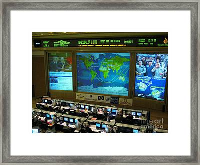 Russian Mission Control Center Framed Print
