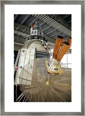Russian Molniya1 Communications Satellite Framed Print