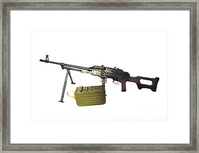 Russian Pkm General-purpose Machine Gun Framed Print by Andrew Chittock