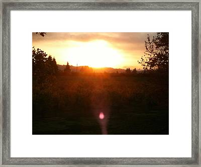 Russian River Sunrise Framed Print by Kathy Corday