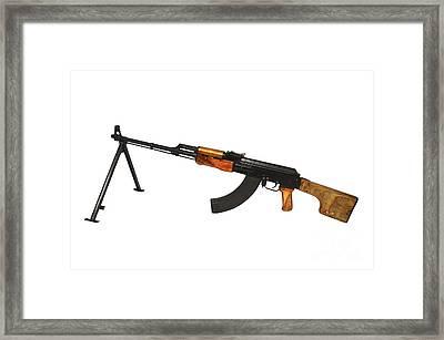 Russian Rpk 7.62mm Light Machine Gun Framed Print by Andrew Chittock