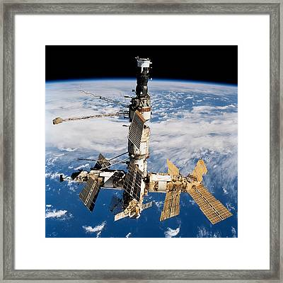 Russian Space Station Mir. Photo Framed Print by Everett