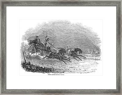Russian Troika, 1847 Framed Print