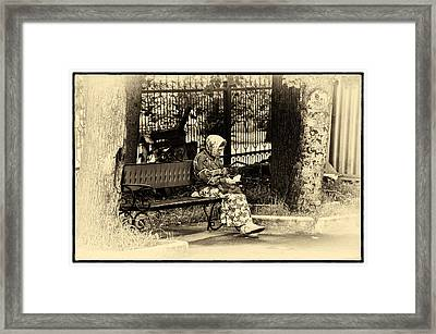 Framed Print featuring the photograph Russian Woman In Park by Rick Bragan