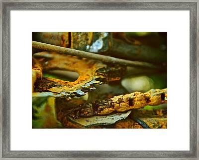 Rust Abstraction Framed Print by Odd Jeppesen